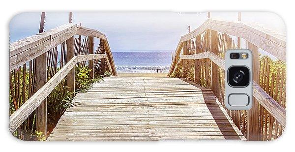 Board Walk Galaxy Case - Beach View by Elena Elisseeva