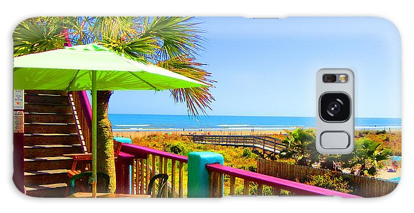 Beach View Of The Ocean By Jan Marvin Studios Galaxy Case