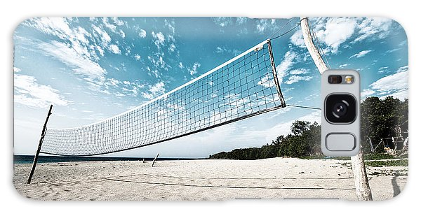 Beach Volleyball Net Galaxy Case