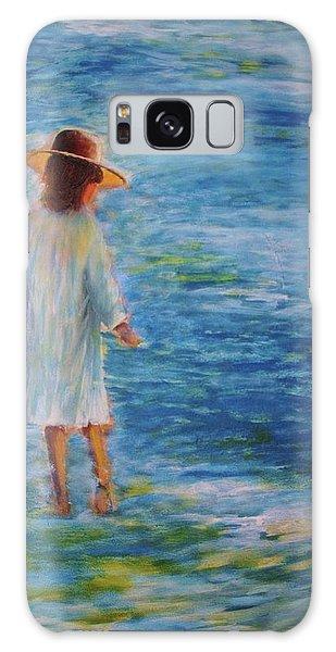 Beach Walker Galaxy Case by John Scates