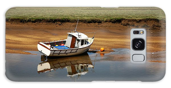 Beached Boat In River Estuary Galaxy Case