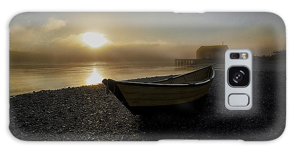 Beached Dory In Lifting Fog  Galaxy Case by Marty Saccone