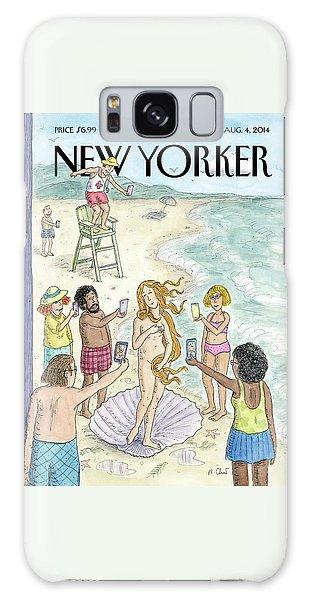 Venus On The Beach Galaxy Case