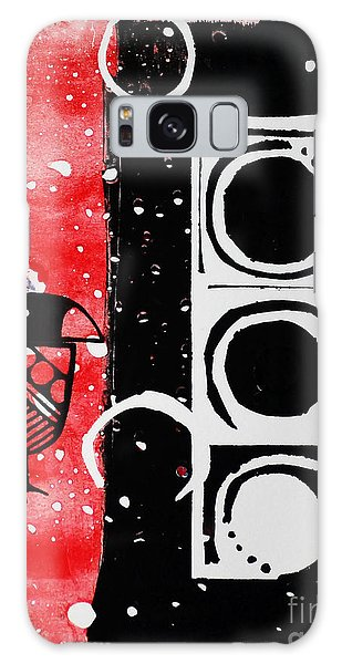 Beak In Red And Black Galaxy Case