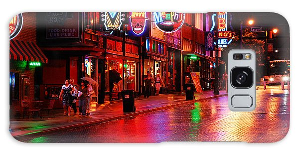 Beale Street Memphis Galaxy Case by James Kirkikis