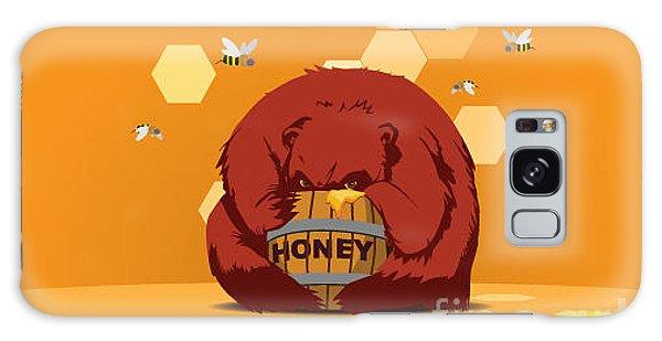 Fairy Galaxy Case - Bear Eats Honey From Barrel Against by Funhare