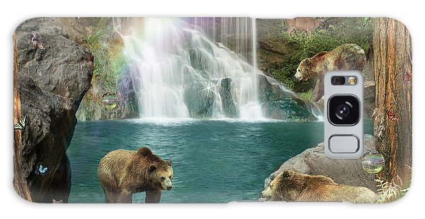 Waterfall Galaxy Case - Bear Falls  Magical Variation  by MGL Meiklejohn Graphics Licensing