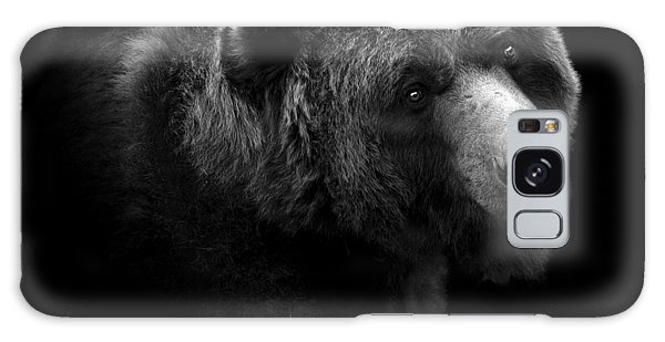 White Galaxy Case - Portrait Of Bear In Black And White by Lukas Holas