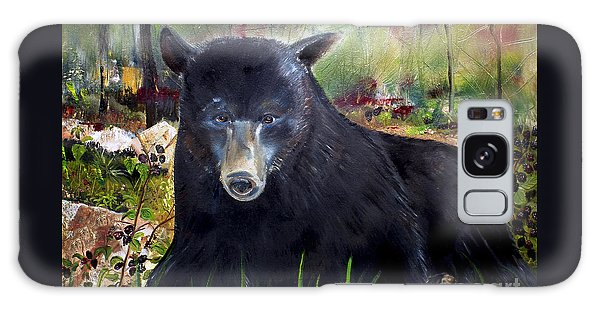 Bear Painting - Blackberry Patch - Wildlife Galaxy Case by Jan Dappen