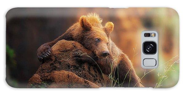 Furry Galaxy S8 Case - Bear Portrait by Sergio Saavedra Ruiz