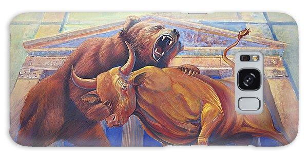 Bear Vs Bull Galaxy Case by Rob Corsetti