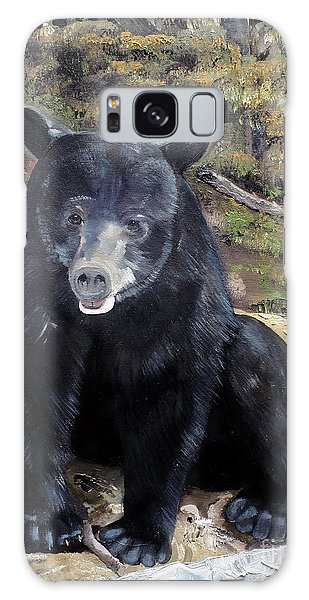 Bear - Wildlife Art - Ursus Americanus Galaxy Case by Jan Dappen