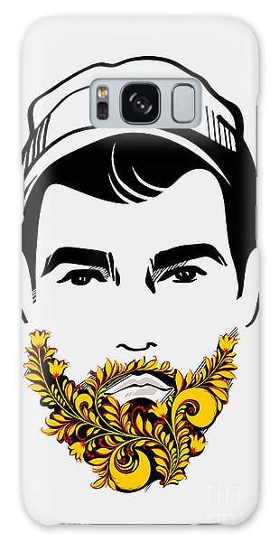 Funny Galaxy Case - Beard And Mustache Man. Traditional by Pevuna