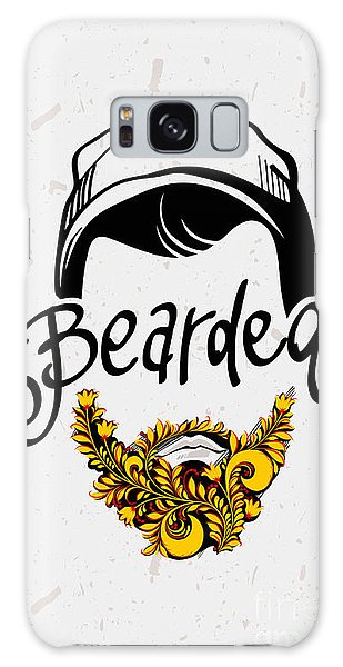 Funny Galaxy Case - Beard And Mustache. Traditional Russian by Pevuna