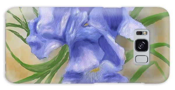 Bearded Iris Blue Iris Floral  Galaxy Case