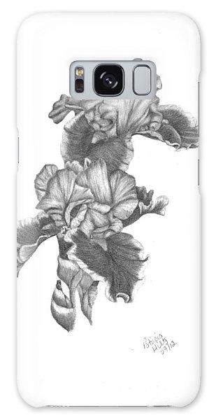 Bearded Irises Galaxy Case