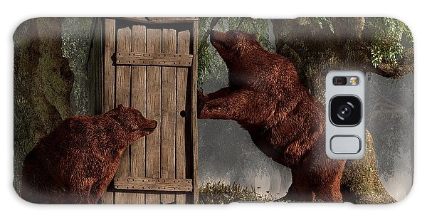 Bears Around The Outhouse Galaxy Case by Daniel Eskridge
