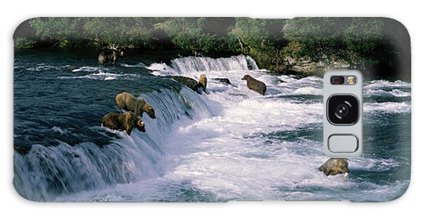 Bears Fish Brooks Fall Katmai Ak Galaxy S8 Case