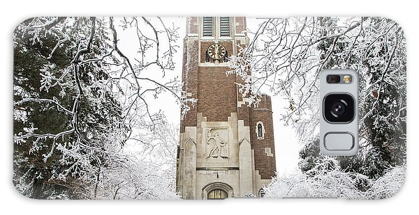 Beaumont Tower Ice Storm  Galaxy Case by John McGraw