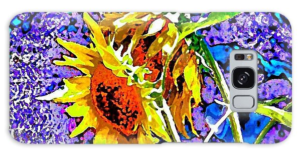 Beautiful And Bright Sunflowers Galaxy Case