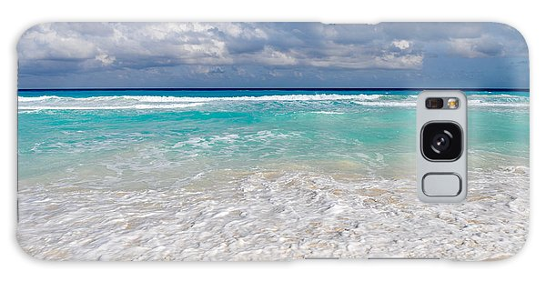 Beautiful Beach Ocean In Cancun Mexico Galaxy Case