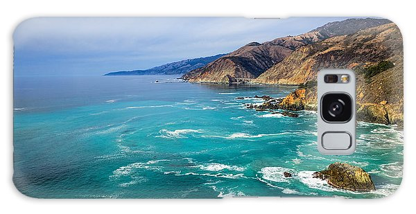 Galaxy Case featuring the photograph Beautiful Big Sur With Bixby Bridge by Priya Ghose