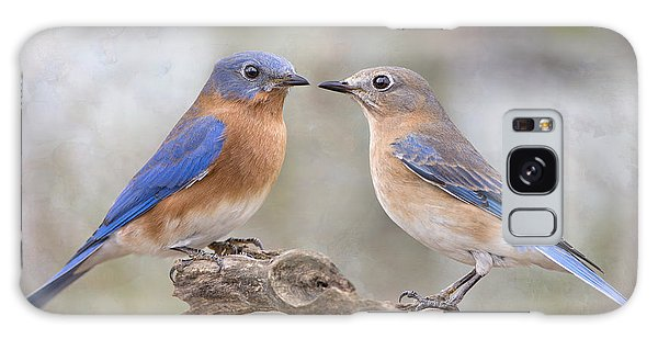 Beautiful Bluebirds Galaxy Case