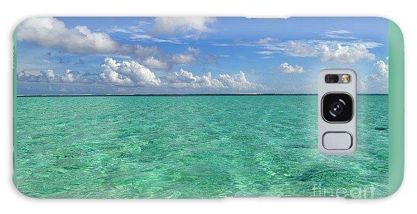 Beautiful Bora Bora Green Water And Blue Sky Galaxy Case