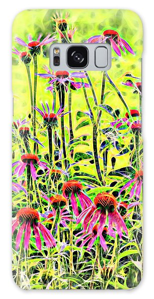 Beautiful Coneflowers Galaxy Case