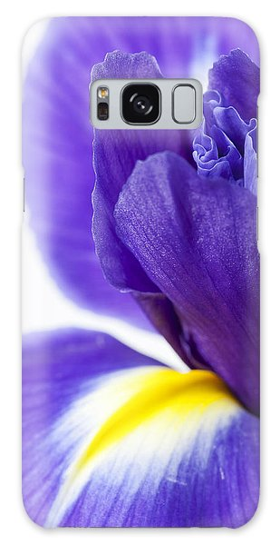 Beautiful Dark Purple Iris Flower Galaxy Case