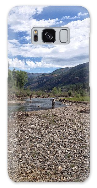 Beautiful Day On The River Galaxy Case by Max Mullins