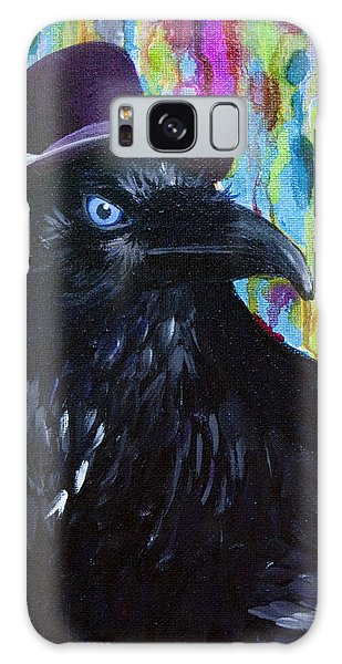Beautiful Dreamer Black Raven Crow 8x10 Mixed Media By Jaime Haney Galaxy Case