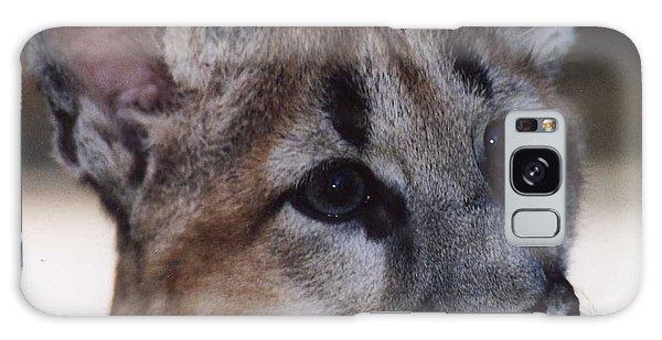 Beautiful Face-cougar Cub Galaxy Case by Myrna Walsh