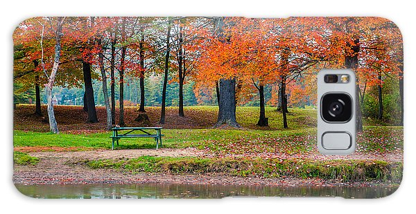 Picnic Table Galaxy Case - Beautiful Fall Foliage In New Hampshire by Edward Fielding