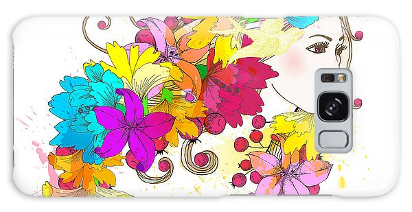 Hair Galaxy Case - Beautiful Fashion Women With Abstract by Komar Art
