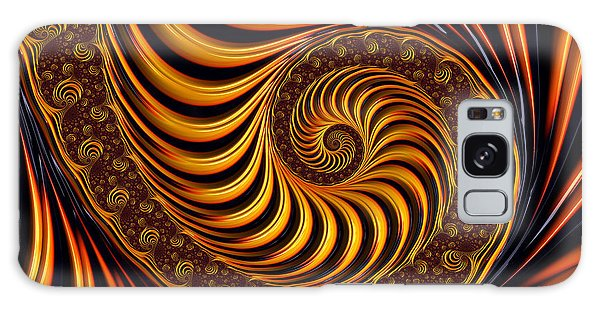 Beautiful Golden Fractal Spiral Artwork  Galaxy Case