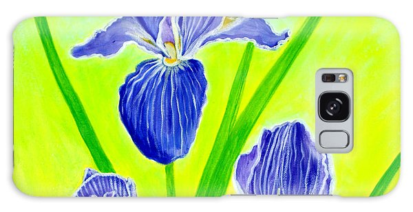 Beautiful Iris Flowers Card Galaxy Case