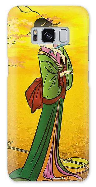 Beautiful Japanese Girl Galaxy Case by Andrzej Szczerski