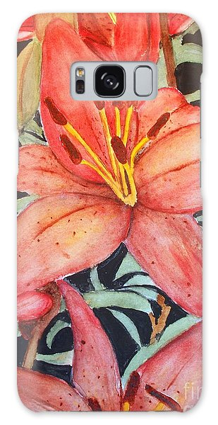 Beautiful Lilies Galaxy Case by Carol Grimes