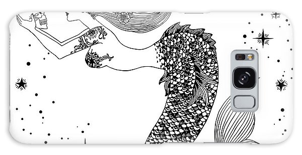 Mythology Galaxy Case - Beautiful Mermaid With Human Skull In by Anastasia Mazeina