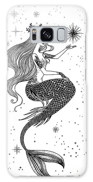 Mythology Galaxy Case - Beautiful Mermaid With Star In Her by Anastasia Mazeina