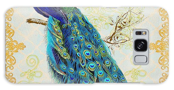 Beautiful Peacock-b Galaxy Case by Jean Plout