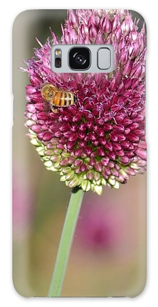 Beautiful Pink Flower With Bee Galaxy Case