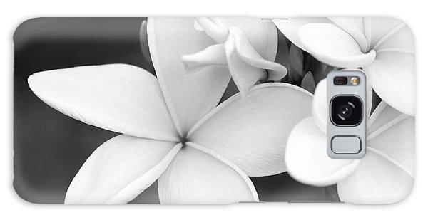 Beautiful Plumeria In Black And White Galaxy Case