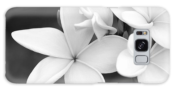 Beautiful Plumeria In Black And White Galaxy Case