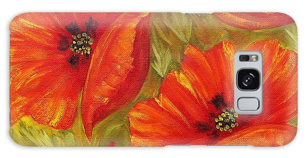 Beautiful Poppies Galaxy Case