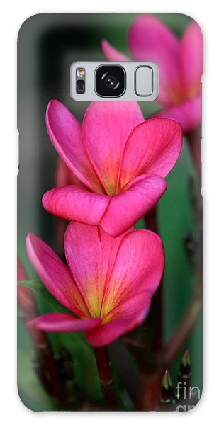 Beautiful Red Plumeria Galaxy Case