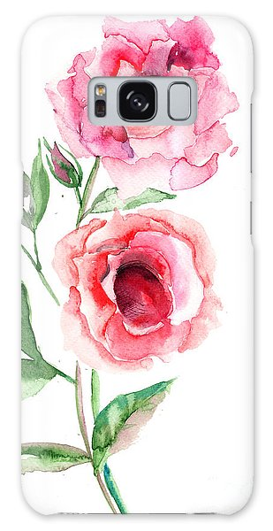 Beautiful Roses Flowers Galaxy Case