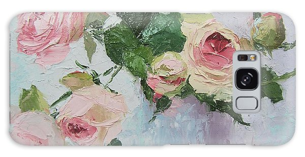 Beautiful Roses Oil Palette Knife Painting Galaxy Case