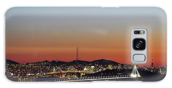 Beautiful Sunset Over The New Bay Bridge And San Francisco Galaxy Case
